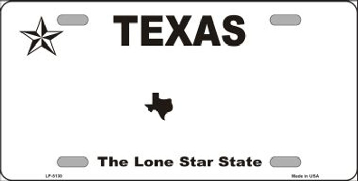 Texas Novelty State Background Blank Metal License Plate LP-5130