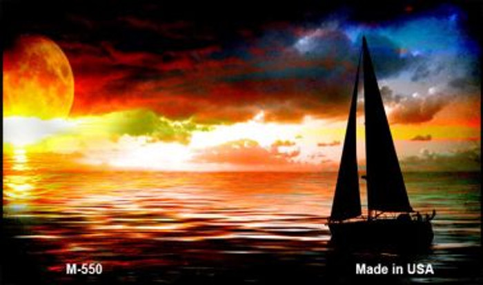 Sailboat Novelty Metal Magnet M-550