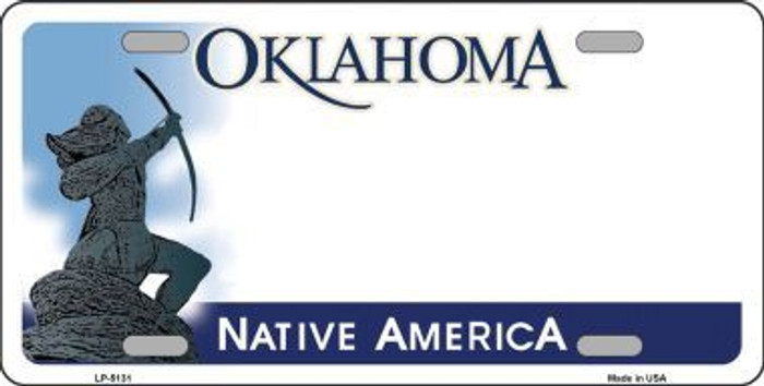 Oklahoma Native America Novelty State Background Blank Metal License Plate LP-5131