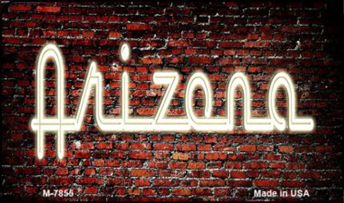 Arizona Neon Sign Novelty Metal Magnet M-7855