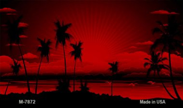 Sunset Red Novelty Metal Magnet M-7872