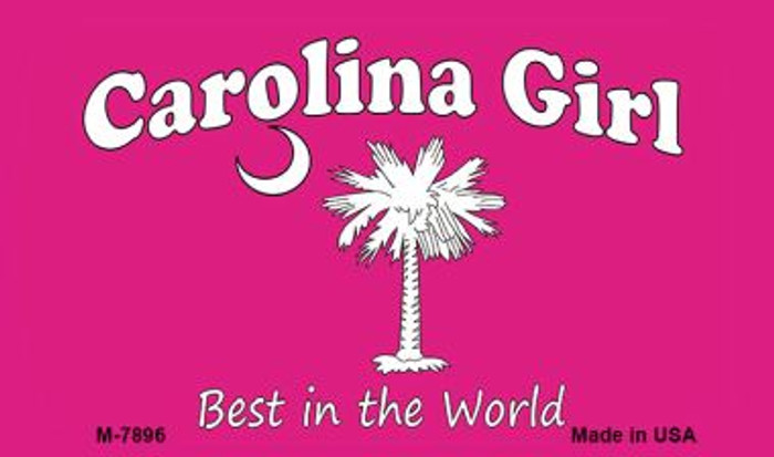 Carolina Girl Pink Novelty Metal Magnet M-7896