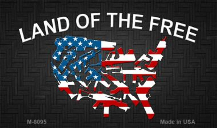 Land of the Free Novelty Metal Magnet M-8095