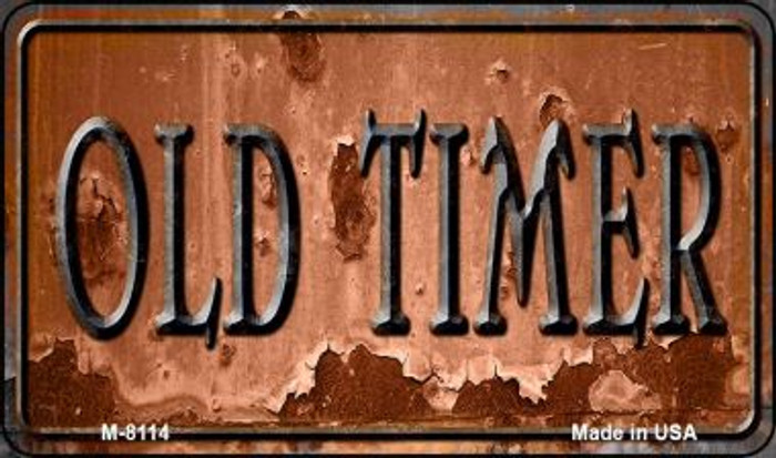 Old Timer Novelty Metal Magnet M-8114