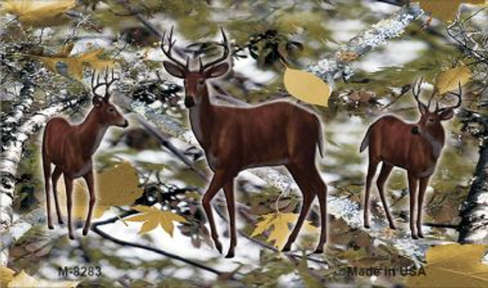 Deer on Camo Novelty Metal Magnet M-8283