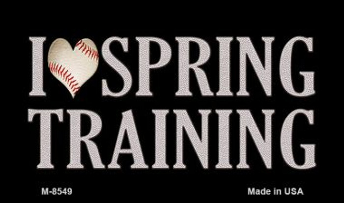 I Love Spring Training Novelty Metal Magnet M-8549