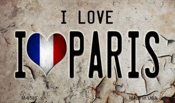 I Love Paris Novelty Metal Magnet M-8585