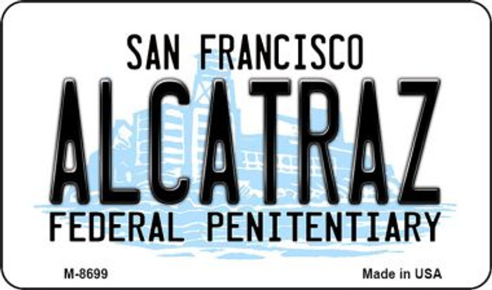 Alcatraz San Francisco Novelty Metal Magnet M-8699