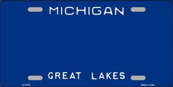 Michigan Novelty State Background Blank Metal License Plate