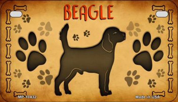Beagle Novelty Metal Motorcycle Plate MP-10432