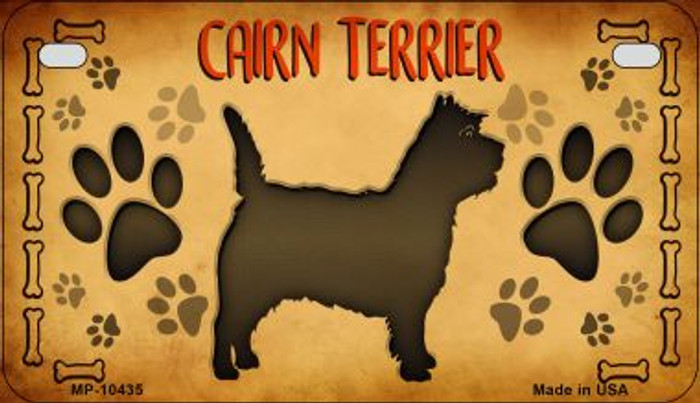 Cairn Terrier Novelty Metal Motorcycle Plate MP-10435