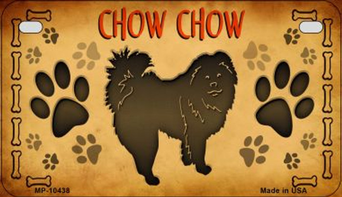 Chow Chow Novelty Metal Motorcycle Plate MP-10438