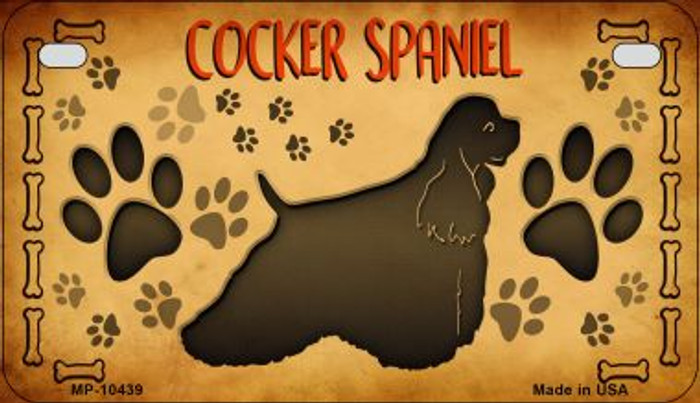Cocker Spaniel Novelty Metal Motorcycle Plate MP-10439