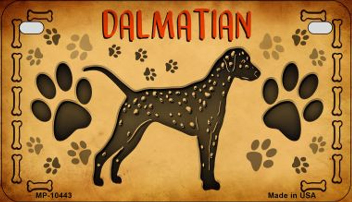 Dalmations Novelty Metal Motorcycle Plate MP-10443
