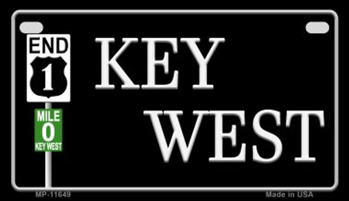Key West Highway Sign Novelty Metal Motorcycle Plate MP-11649