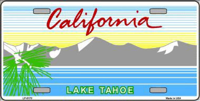 California Lake Tahoe Novelty State Background Blank Metal License Plate LP-5173