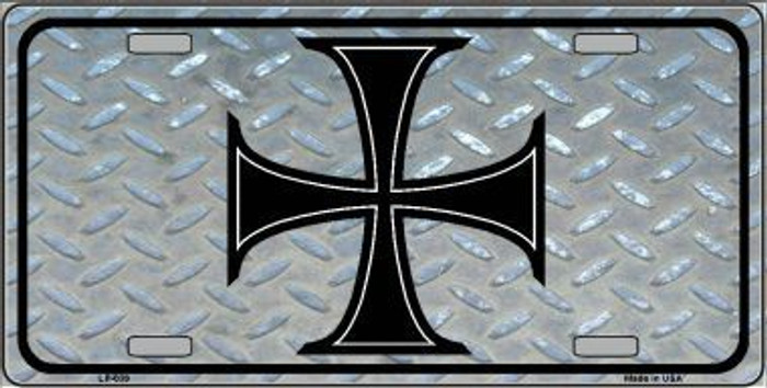 Maltese Cross Novelty Metal License Plate