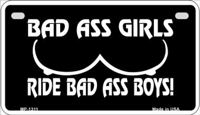 Bad Ass Girls Novelty Metal Motorcycle Plate MP-1311