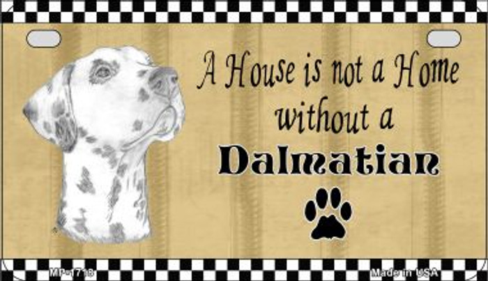 Dalmatian Pencil Sketch Novelty Metal Motorcycle Plate MP-1718