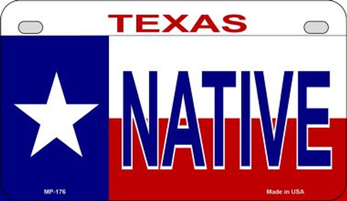 Native Texas Novelty Metal Motorcycle Plate MP-176