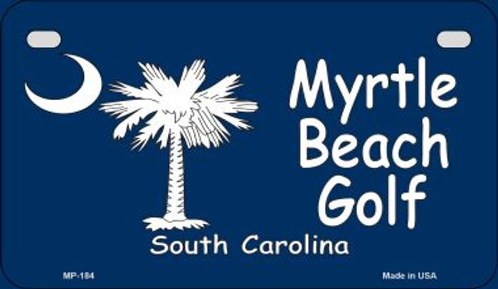 Myrtle Beach Golf Flag Novelty Metal Motorcycle Plate MP-184