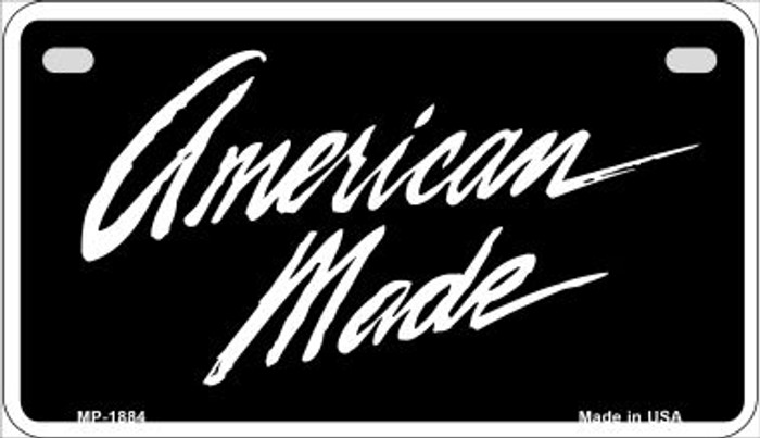 American Made Novelty Metal Motorcycle Plate MP-1884