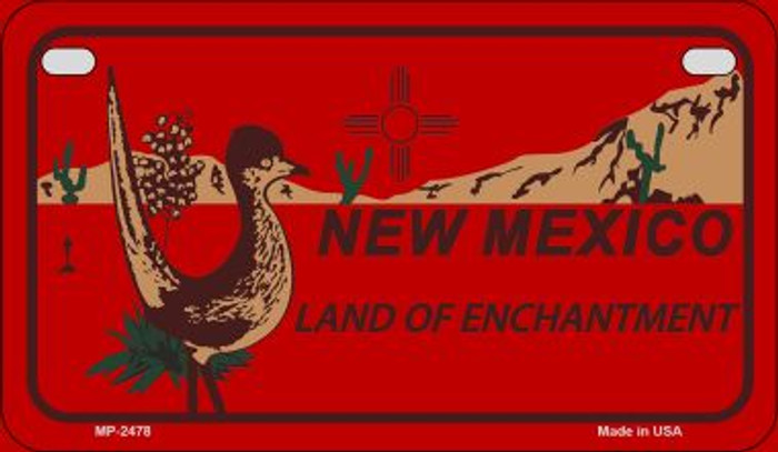 Roadrunner Red New Mexico Novelty Metal Motorcycle Plate MP-2478
