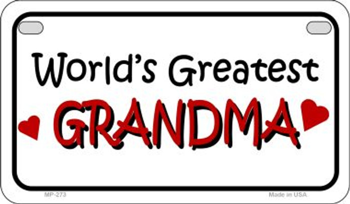 Worlds Greatest Grandma Novelty Metal Motorcycle Plate MP-273