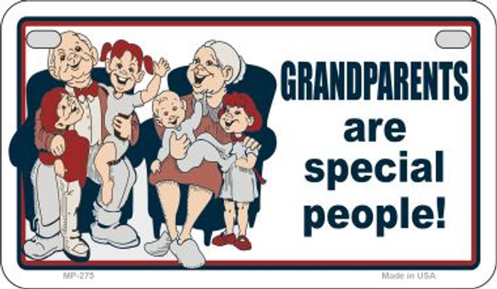 Grandparents Are Special Novelty Metal Motorcycle Plate MP-275