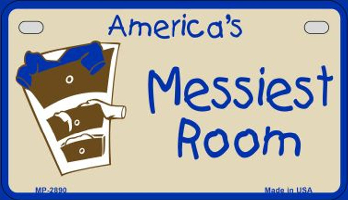 Americas Messiest Room Novelty Metal Motorcycle Plate MP-2890