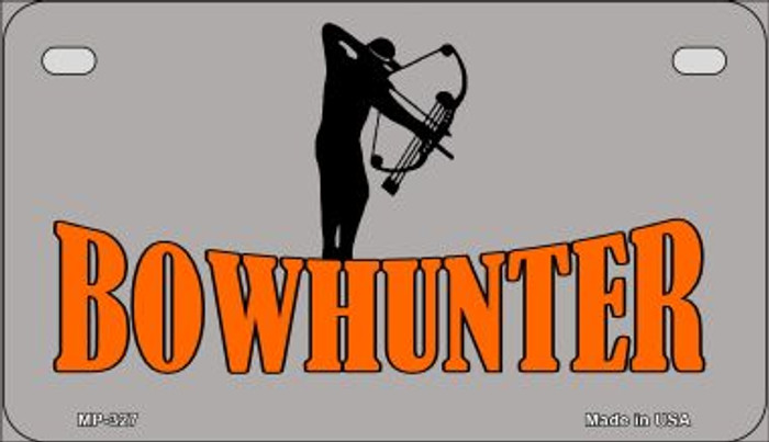 Bow Hunter Novelty Metal Motorcycle Plate MP-327