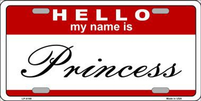 Princess Metal Novelty License Plate LP-5199