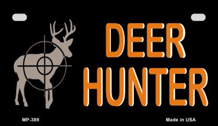 Deer Hunter Novelty Metal Motorcycle Plate MP-389