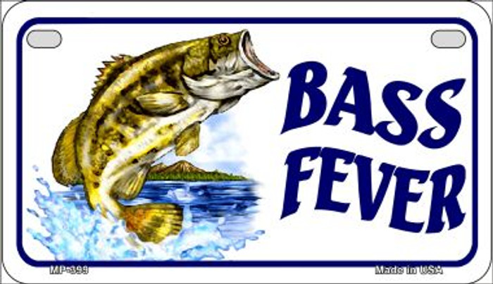 Bass Fever Novelty Metal Motorcycle Plate MP-399
