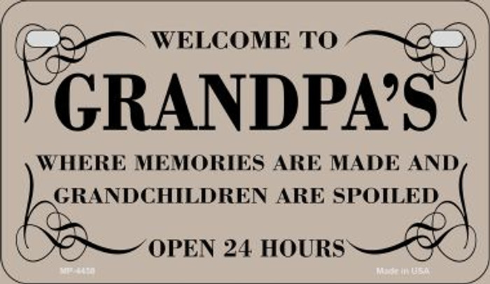 Welcome to Grandpas Novelty Metal Motorcycle Plate MP-4458