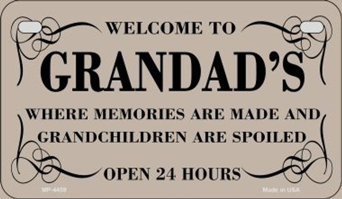 Welcome to Grandads Novelty Metal Motorcycle Plate MP-4459