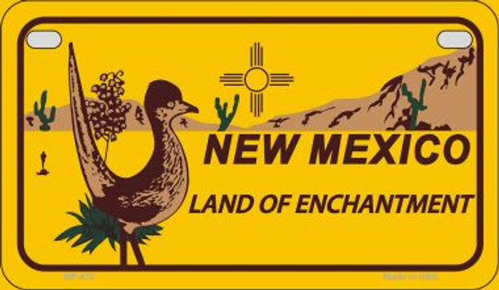 Roadrunner Yellow New Mexico Novelty Metal Motorcycle Plate MP-472