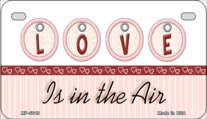 Love in the Air Novelty Metal Motorcycle Plate MP-5019