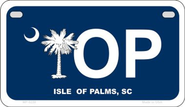 IOP Blue South Carolina Novelty Metal Motorcycle Plate MP-5259