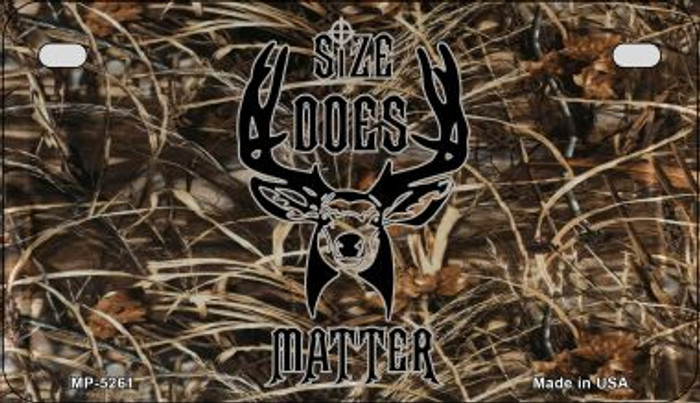 Size Does Matter Novelty Metal Motorcycle Plate MP-5261
