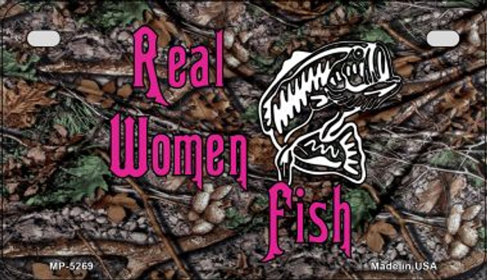 Real Women Fish Novelty Metal Motorcycle Plate MP-5269