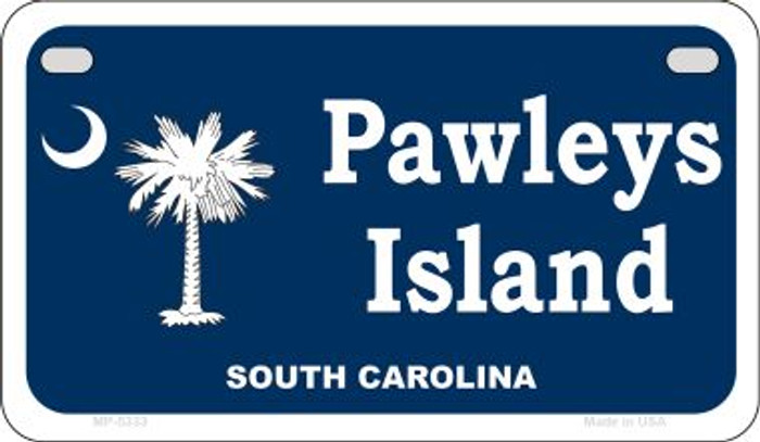 Pawleys Island Blue Novelty Metal Motorcycle Plate MP-5333