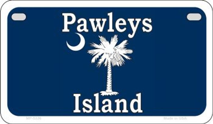 Pawleys Island Blue Novelty Metal Motorcycle Plate MP-5336