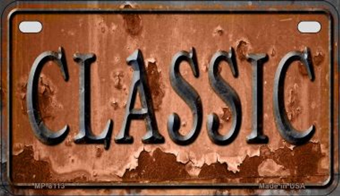 Classic Rusty Novelty Metal Motorcycle Plate MP-8113
