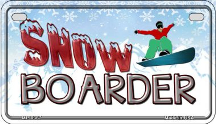 Male Snow Boarder Novelty Metal Motorcycle Plate MP-8367