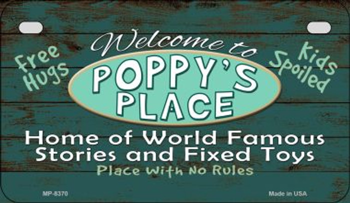 Welcome to Poppys Place Novelty Metal Motorcycle Plate MP-8370