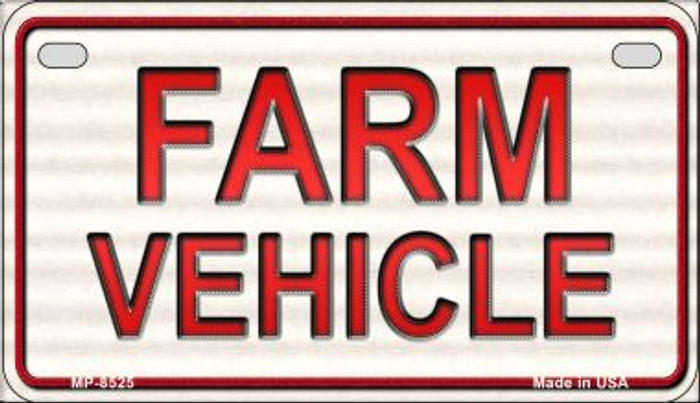 Farm Vehicle Novelty Metal Motorcycle Plate MP-8525