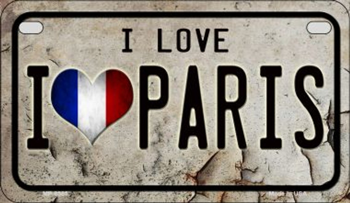 I Love Paris Novelty Metal Motorcycle Plate MP-8585