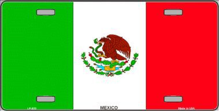 Mexico Flag Metal Novelty License Plate LP-523