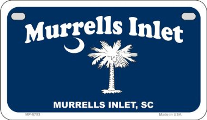 Murrells Inlet Blue Flag Novelty Metal Motorcycle Plate MP-8793